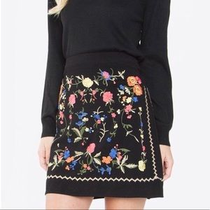 Embroidered floral skirt by Sugarlips